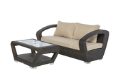 Mega Sale - Weather Wicker Loveseat with Coffee table