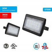 LED Flood Light 30 Watt 5700K Black Finish ($29.45)